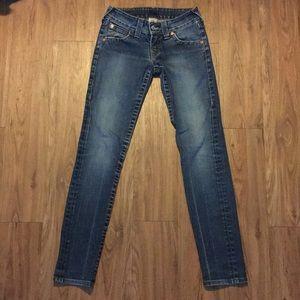 True Religion Women Skinny Jeans 27 x 32 Low Rise
